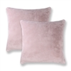 Sherry Kline Harrington Light Pink Reversible 20-inch Faux Fur Pillow (Set of 2)