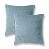 Sherry Kline Harrington Sky Blue Reversible 20-inch Faux Fur Pillow (Set of 2)