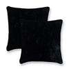 Sherry Kline Harrington Black Reversible 20-inch Faux Fur Pillow (Set of 2)