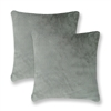 Sherry Kline Harrington Silver Grey Reversible 20-inch Faux Fur Pillow (Set of 2)