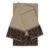 Sherry Kline Inspire Taupe 3-piece Embellished Towel Set