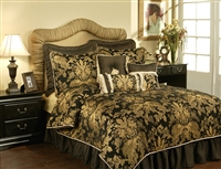 Austin Horn Classics Lismore Black 3-piece Luxury Duvet Set