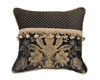 Austin Horn Classics Lismore Black Fancy Pieced 18-inch Square Pillow