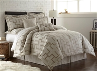 Austin Horn En' Vogue Maze Platinum Grey 3-piece Duvet Set