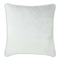 Olivia Quido Allure Ivory Luxury Faux Fur 24-inch Pillow