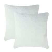 Olivia Quido Allure Ivory Luxury Faux Fur 24-inch Pillow 2-pack