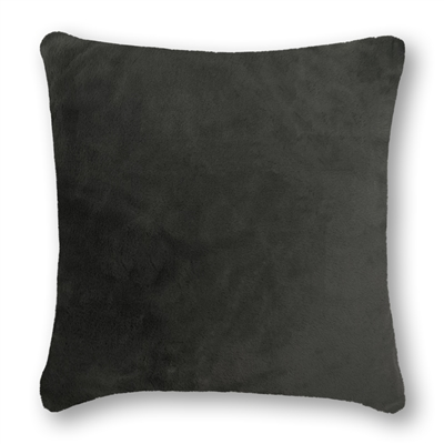 Olivia Quido Lux Grey Luxury Faux Fur 24-inch Pillow