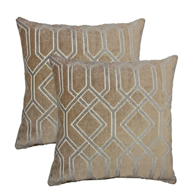 Olivia Quido Love Luxury Cut Velvet 24-inch Floor Pillow 2-pack
