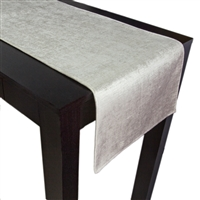 Olivia Quido Coventry Tailored Velvet Luxury Table Runner - Ivory