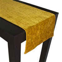 Olivia Quido Coventry Tailored Velvet Luxury Table Runner - Gold