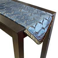 Olivia Quido Dazzle Cut Velvet Luxury Table Runner