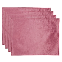 Olivia Quido Coventry Velvet Luxury Placemat 4-pack - Rosewood