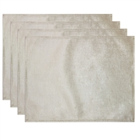 Olivia Quido Coventry Velvet Luxury Placemat 4-pack - Ivory