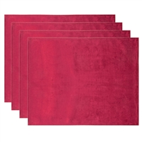 Olivia Quido Coventry Velvet Luxury Placemat 4-pack - Red