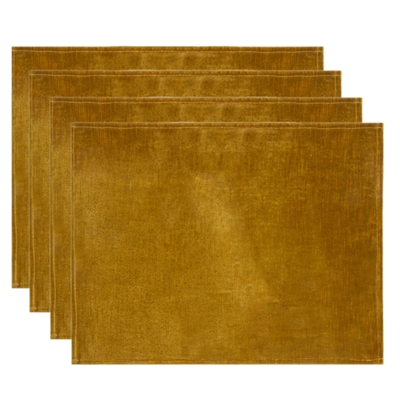 Olivia Quido Coventry Velvet Luxury Placemat 4-pack - Gold