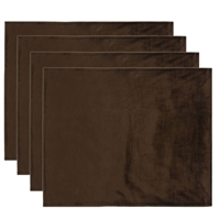Olivia Quido Coventry Velvet Luxury Placemat 4-pack - Brown