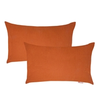 Olivia Quido Sunbrella Spectrum Cayenne Boudoir Outdoor Pillow 2-pack