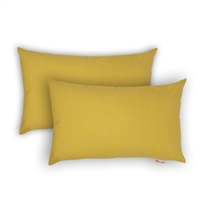 Olivia Quido Sunbrella Spectrum Daffodil Boudoir Outdoor Pillow 2-pack