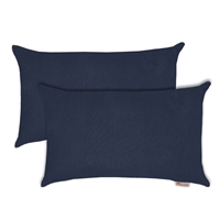 Olivia Quido Sunbrella Spectrum Indigo Boudoir Outdoor Pillow 2-pack