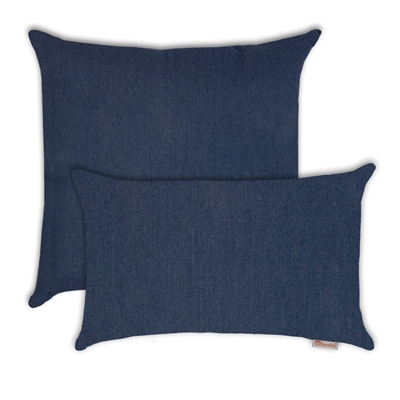 Olivia Quido Sunbrella Spectrum Indigo Combo Outdoor Pillow 2-pack