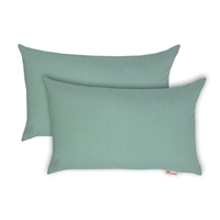 Olivia Quido Sunbrella Spectrum Mist Boudoir Outdoor Pillow 2-pack