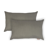 Olivia Quido Sunbrella Spectrum Dove Boudoir Outdoor Pillow 2-pack