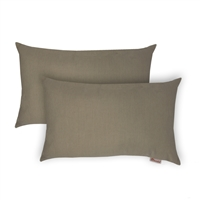 Olivia Quido Sunbrella Spectrum Sand Boudoir Outdoor Pillow 2-pack