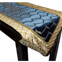 Olivia Quido Dazzle Diamond Cut Velvet Luxury Table Runner