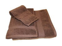 Olivia Quido Zero Twist 3-piece BROWN Towel Set