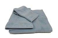 Olivia Quido Zero Twist 3-piece LIGHT BLUE Towel Set