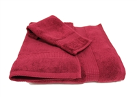 Olivia Quido Zero Twist 3-piece RED Towel Set