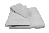 Olivia Quido Zero Twist 3-piece WHITE Towel Set