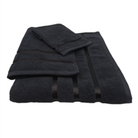 Oliva Quido Hotel Collection 3-Piece BLACK Towel Set