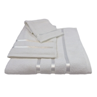 Oliva Quido Hotel Collection 3-Piece WHITE Towel Set