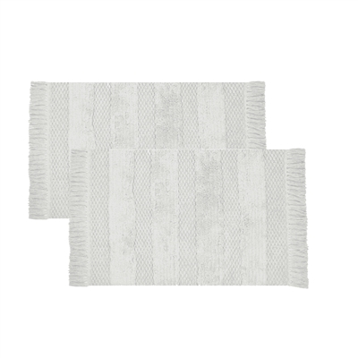 Olivia Quido Woven Loom Bath Rug 2-pack - Off-white