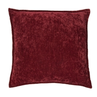 Olivia Quido Cosmopolitan Toile Burgundy Washed Valvet 20-inch Pillow