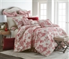 Olivia Quido Cosmopolitan Toile Red 3-piece Luxury Duvet Set
