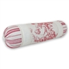 Olivia Quido Cosmopolitan Toile Red Neckroll Pillow