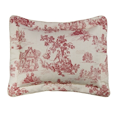 Olivia Quido Cosmopolitan Toile Red Shams (Pair)