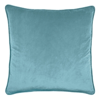 Olivia Quido Atlantic Blue 24-inch Velvet Pillow