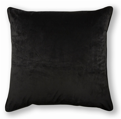 Olivia Quido Black 24-inch Velvet Pillow