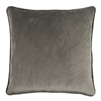 Olivia Quido Dark Grey 24-inch Velvet Pillow