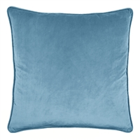 Olivia Quido Teal Blue 24-inch Velvet Pillow