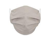Washable 4-Layer Cotton Pleating Face Covering with Filter Pocket (Pack of 3) - GRAY