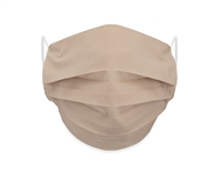 Washable 4-Layer Cotton Pleating Face Covering with Filter Pocket (Pack of 3) - TAUPE