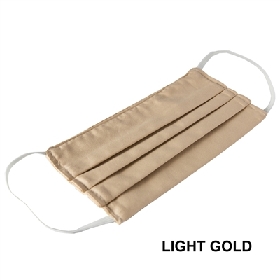 Washable Cotton Face Covering (Earloop) - LIGHT GOLD (Pack of 3)