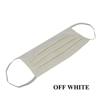 Washable Cotton Face Covering (Earloop) - OFF-WHITE (Pack of 12)