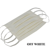 Washable Cotton Face Covering (Earloop) - OFF-WHITE (Pack of 3)
