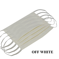 Washable Cotton Face Covering (Earloop) - OFF-WHITE (Pack of 6)