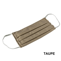 Washable Cotton Face Covering (Earloop) - TAUPE (Pack of 3)